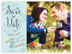 Bountiful Leaves save the date cards