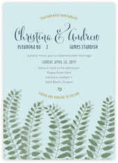 Bountiful Leaves invitations