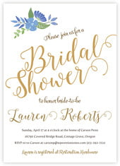 Bridal Bloom Card In Periwinkle