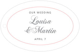Bordeaux wide oval hang tags