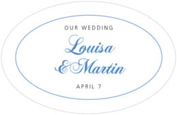 Bordeaux large oval labels