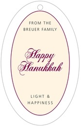 Bordeaux large oval hang tags
