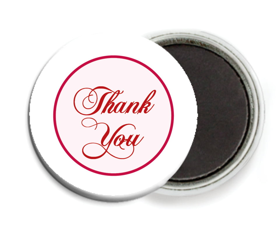 custom button magnets - deep red - bordeaux (set of 6)