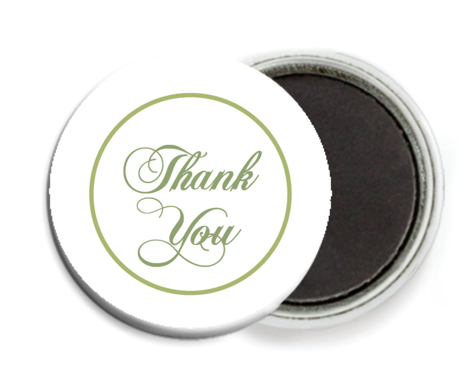 custom button magnets - green tea - bordeaux (set of 6)