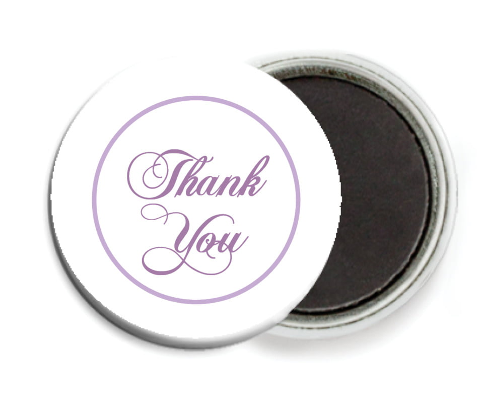 custom button magnets - lilac - bordeaux (set of 6)