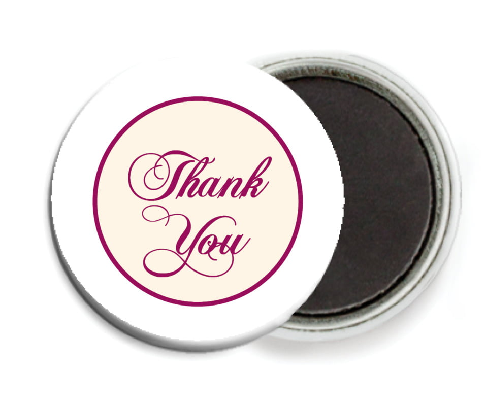 custom button magnets - burgundy - bordeaux (set of 6)