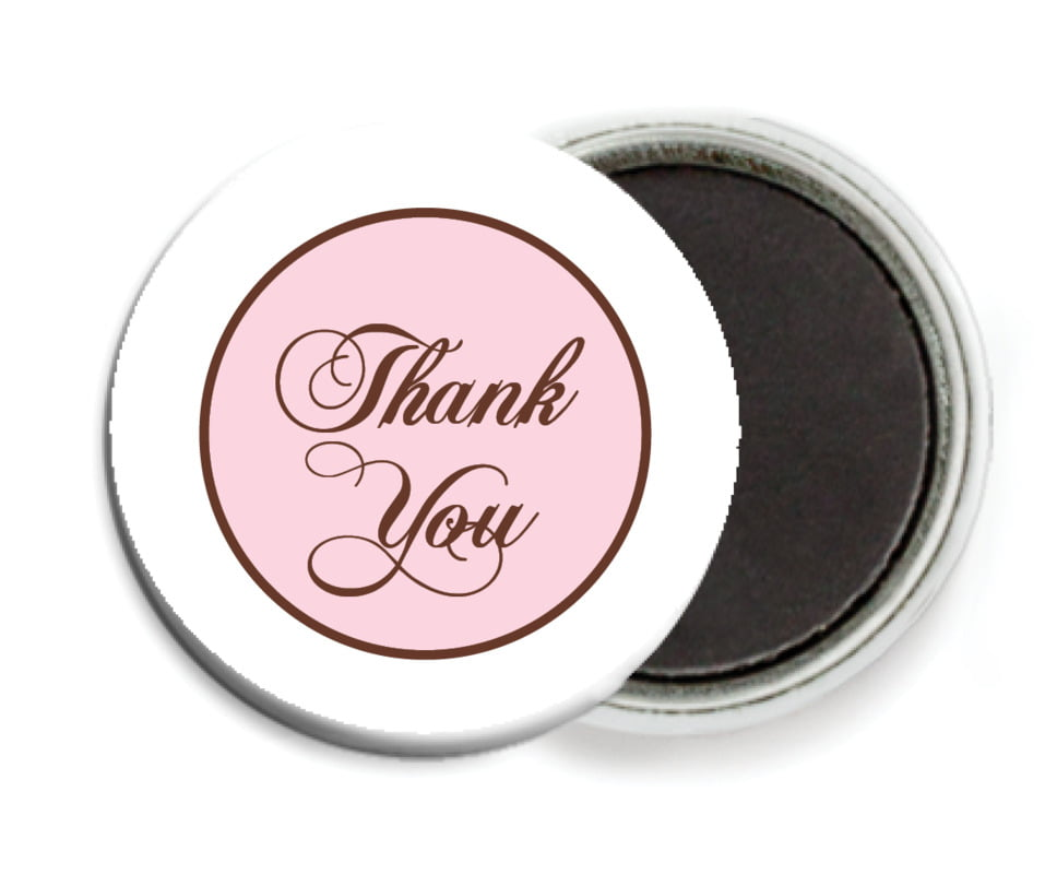 custom button magnets - cocoa & pink - bordeaux (set of 6)