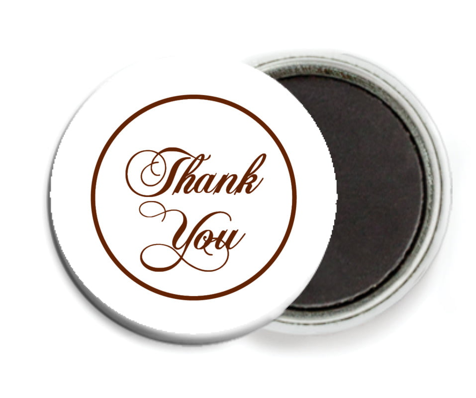 custom button magnets - chocolate - bordeaux (set of 6)