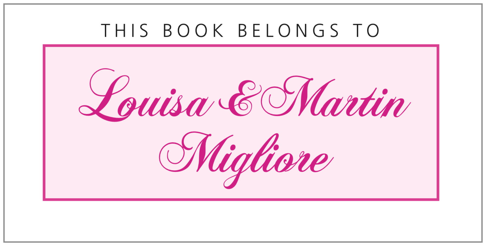 bookplates for everyone - bright pink - bordeaux (set of 24)