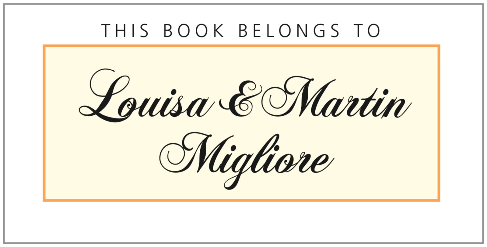 bookplates for everyone - tangerine - bordeaux (set of 24)
