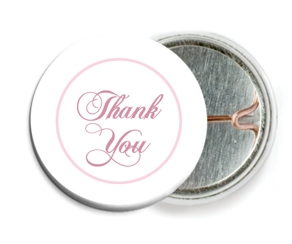custom pin back buttons - pale pink - bordeaux (set of 6)
