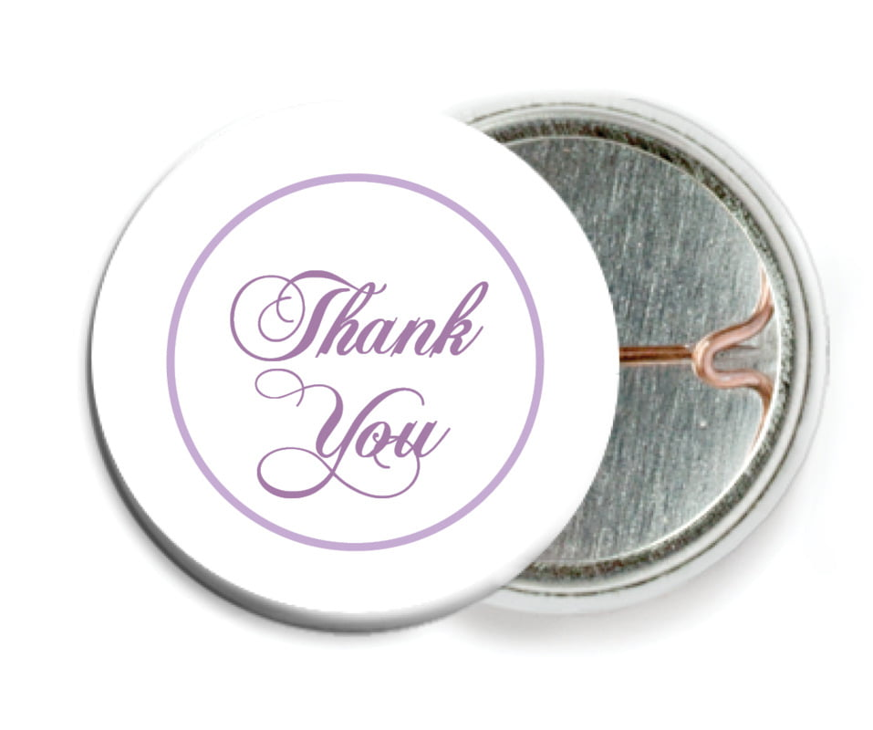 custom pin back buttons - lilac - bordeaux (set of 6)
