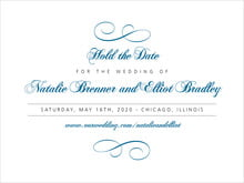 custom save-the-date cards - blue - bordeaux (set of 10)