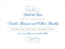 custom save-the-date cards - periwinkle - bordeaux (set of 10)