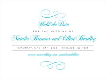 custom save-the-date cards - bahama blue - bordeaux (set of 10)