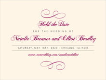 custom save-the-date cards - burgundy - bordeaux (set of 10)