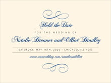 custom save-the-date cards - deep blue - bordeaux (set of 10)