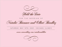 custom save-the-date cards - cocoa & pink - bordeaux (set of 10)