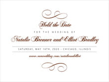 custom save-the-date cards - chocolate - bordeaux (set of 10)