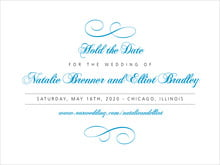 custom save-the-date cards - sky - bordeaux (set of 10)
