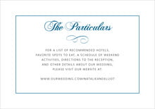 custom enclosure cards - blue - bordeaux (set of 10)
