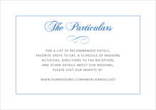 custom enclosure cards - periwinkle - bordeaux (set of 10)