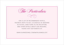 custom enclosure cards - bright pink - bordeaux (set of 10)