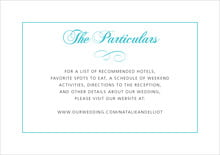 custom enclosure cards - bahama blue - bordeaux (set of 10)