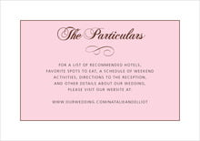 custom enclosure cards - cocoa & pink - bordeaux (set of 10)