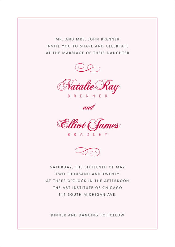 custom invitations - deep red - bordeaux (set of 10)