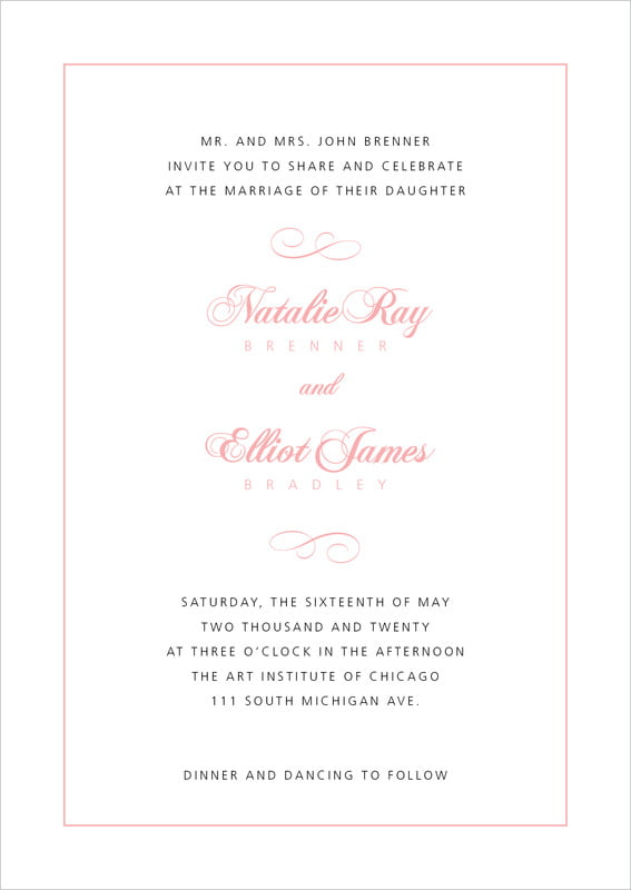 custom invitations - grapefruit - bordeaux (set of 10)
