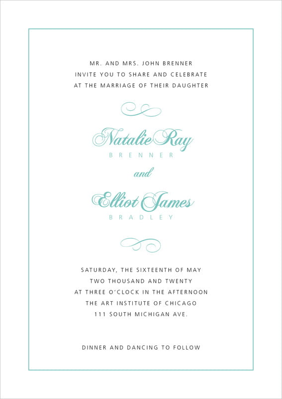 custom invitations - aruba - bordeaux (set of 10)