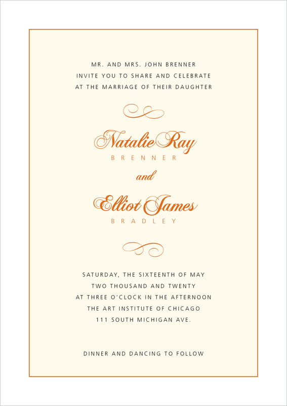 custom invitations - spice - bordeaux (set of 10)