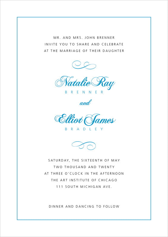 custom invitations - sky - bordeaux (set of 10)