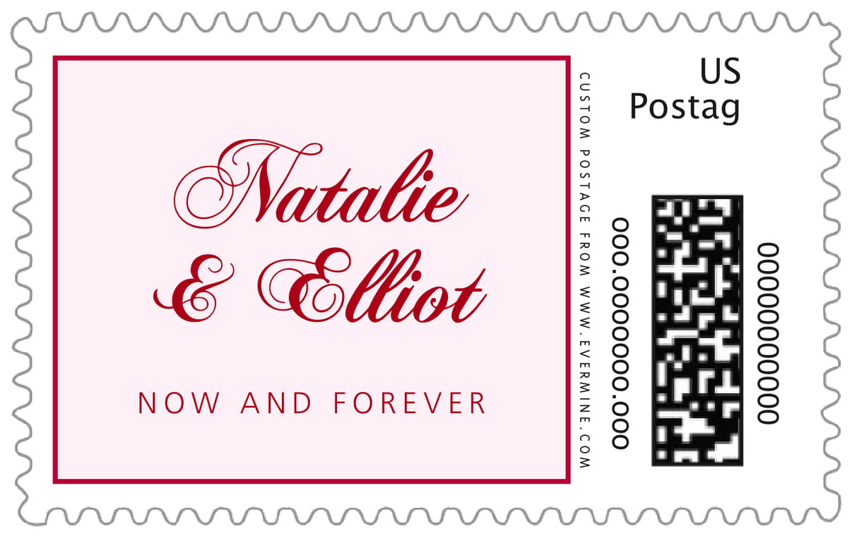 custom large postage stamps - deep red - bordeaux (set of 20)