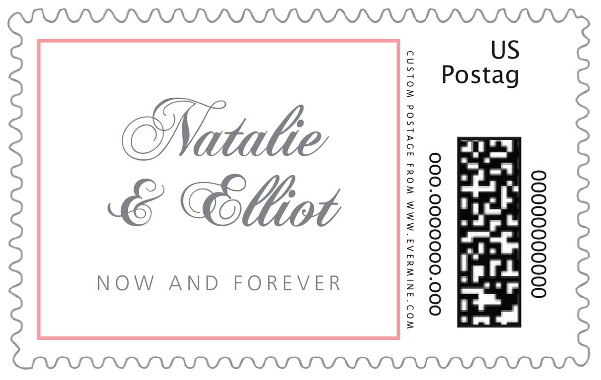 custom large postage stamps - grapefruit - bordeaux (set of 20)