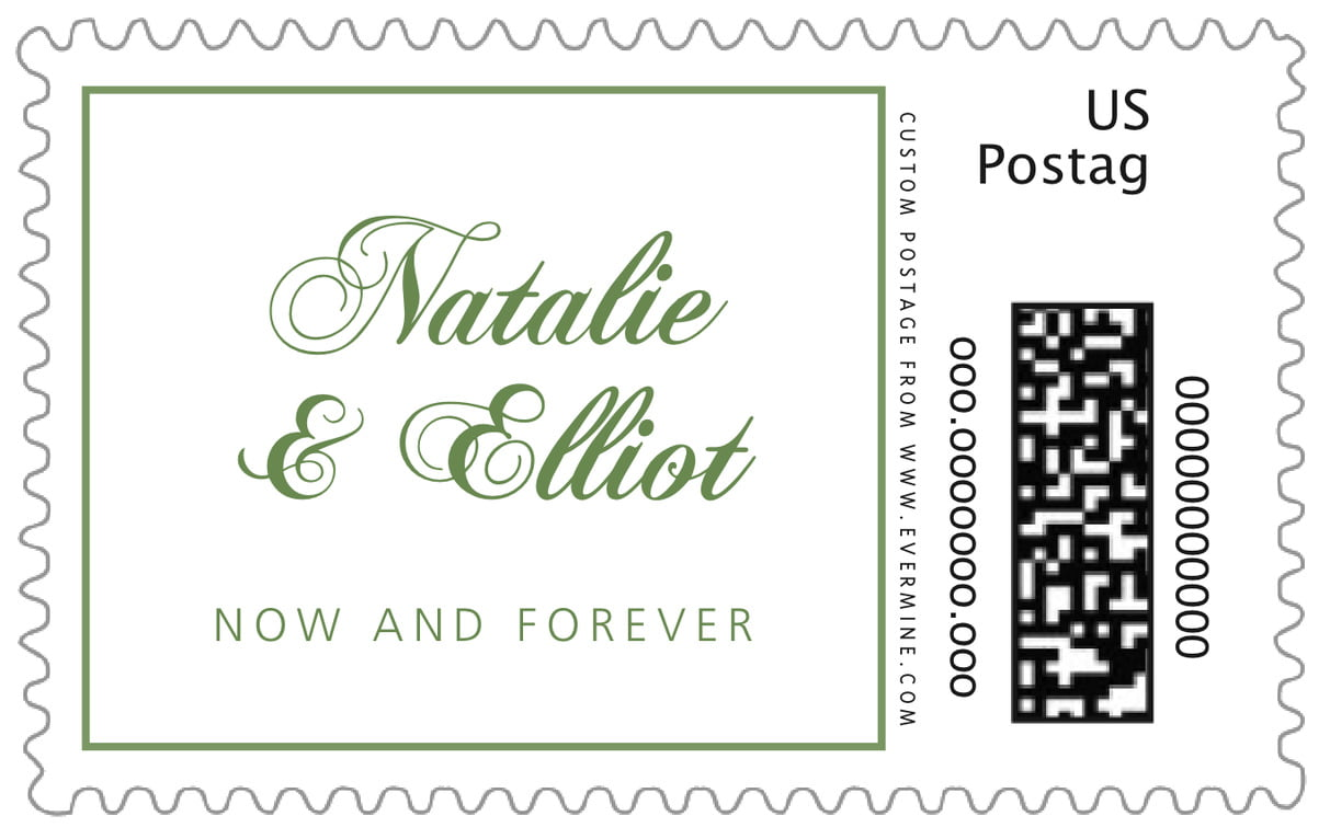 custom large postage stamps - sage - bordeaux (set of 20)