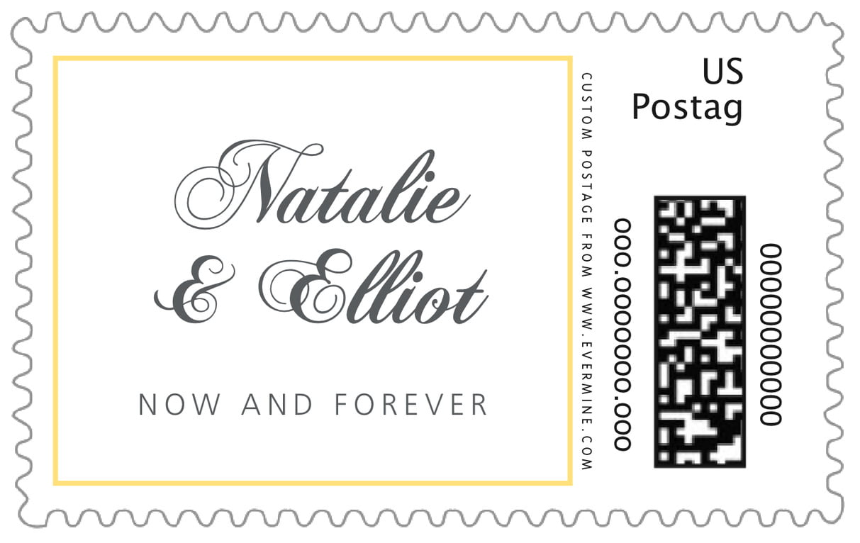 custom large postage stamps - sunflower - bordeaux (set of 20)