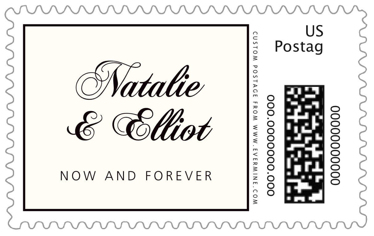 custom large postage stamps - tuxedo - bordeaux (set of 20)