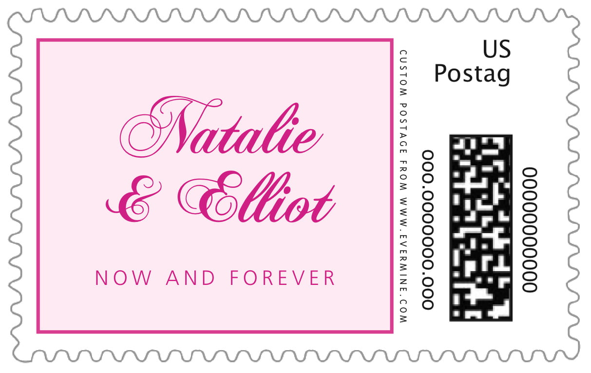 custom large postage stamps - bright pink - bordeaux (set of 20)