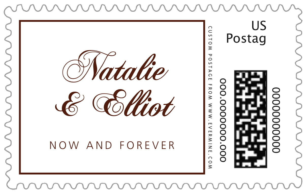 custom large postage stamps - chocolate - bordeaux (set of 20)