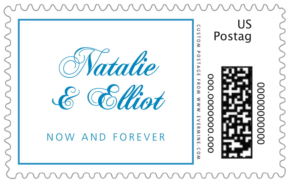 custom large postage stamps - sky - bordeaux (set of 20)