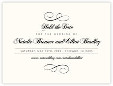 Bordeaux Save The Date Card In Tuxedo