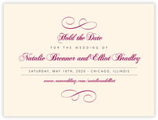 Bordeaux save the date cards