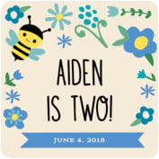 Bumble Bee baby birthday coasters