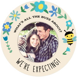 Bumble Bee round coasters