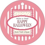Candystripes circle hang tags