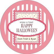 Candystripes large circle labels