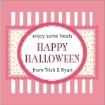 Candystripes square labels