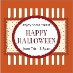 Candystripes Square Label In Spice